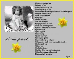 Special friend, A true friend... A - Z