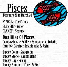 Characteristics of a pisces