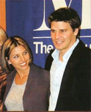 David Boreanaz and Charisma Carpenter at the Paley Panel (3/30/2001)