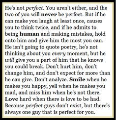 Quote | he's not perfect | perfection | relationship | love | struggle ...