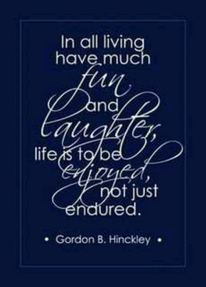 President Hinckley...see there it is again
