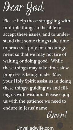 Prayer Of The Day – Slow Progress --- Dear Lord, Please help those ...