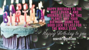 Birthday Wishes Quotes & Sayings