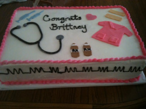 Nursing Assistant Graduation Cake