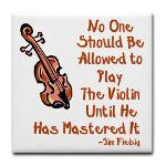 Sad Faces Violins Funny Cheer Sympathy Card