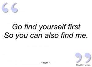 go find yourself first rumi