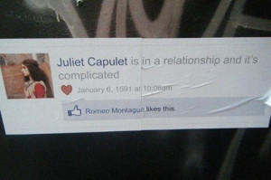 couple, facebook, funny, juliet, love, romeo and juliet