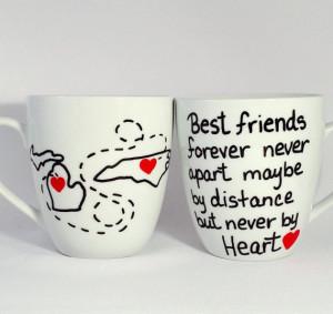 Best Friends Mug, going away gift, best friend mugs, quote mug, long ...