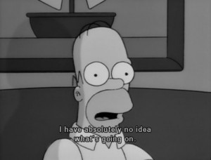black and white, depressed, funny, homer, homer simpson, lol me ...