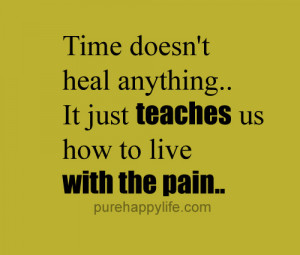 Time doesn't heal anything.. It just teaches us how to live with the ...