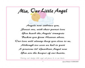 ... ' Keepsake Poem Print for Stillborn Loss of Young Baby Girl or Boy