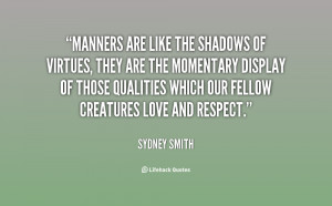 Quotes About Manners Etiquette
