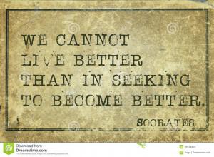 ... Greek philosopher Socrates quote printed on grunge vintage cardboard