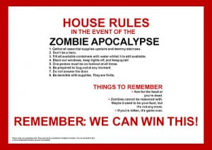 Any Suggestions For the Next Zombie Apocalypse?