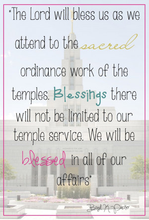 Here are some quotes I put together with some temple pictures for our ...