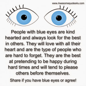 Awesome Quotes: People with Blue Eyes