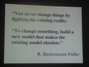 Buckminster Fuller on how to create change -