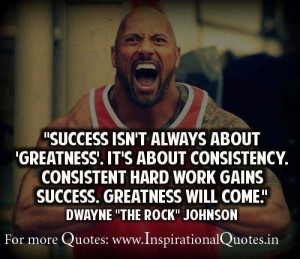 Success is not always about Greatness. It's about Consistency ...