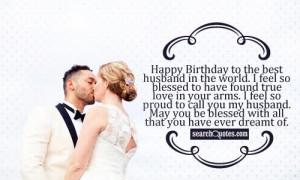 Happy Birthday To My Husband Quotes