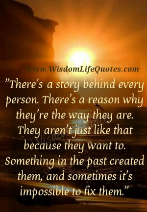 There is a story behind every person