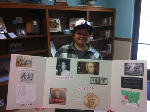 Ammon had a great President report on Andrew Jackson. There were A LOT ...