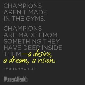 desire, a dream and a vision