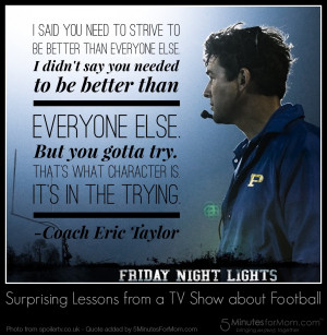 High School Football Quotes Friday night lights quote