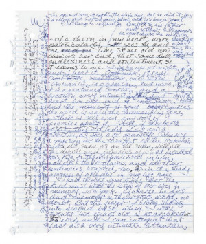 manuscript page from Marilynne Robinson's Gilead from The Art of ...