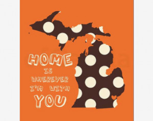 ... Michigan PERSONALIZED Country Quote Silhouette Shape Pattern Fill