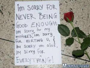 sorry for hurting you i m sorry for making you cry i m sorry i ...