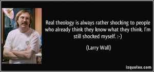 More Larry Wall Quotes