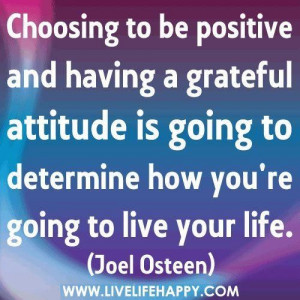 Choosing To Be Positive