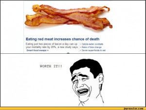 ... just two pieces of bacon a day can up your mo / yao ming face :: bacon