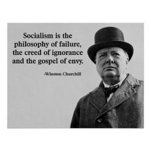 Churchill Anti-Socialism Quote Print