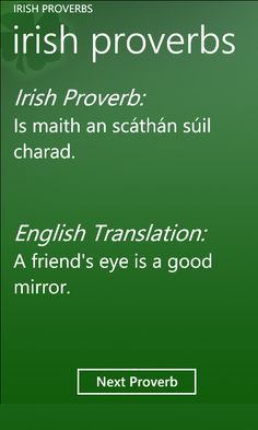 Irish Proverbs - Did you know the Irish were forbidden by the English ...