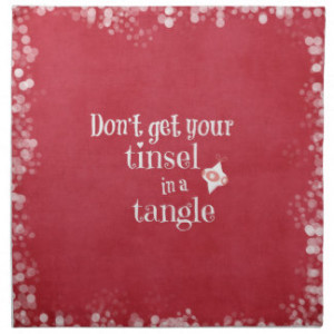 Funny Christmas Quote Napkins