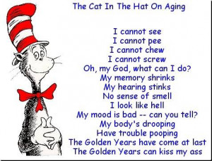 description only cat in the hat on old age a funny poem comedy picture ...