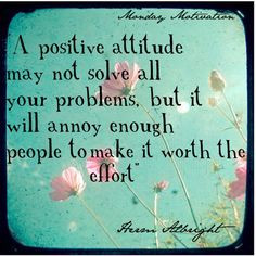 positive attitude may not solve all your problems, but it will annoy ...