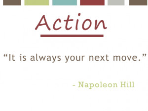 Napoleon Hill Quote About Action