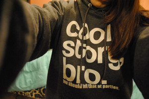 cool, cool story bro, gray and white, hoodie, hoodies with sayings