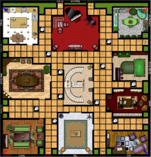 Clue Board Game Pieces