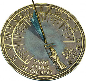 ... 67.95. Horizontal Sundial with the famous quote Robert Browning quote