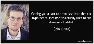 Getting you a date to prom is so hard that the hypothetical idea ...