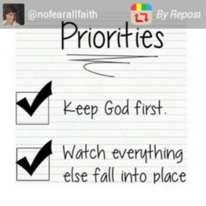 Keep God First•Watch everything else fall in place.#God #quotes # ...