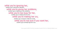 ... quotes quotes 4277170 favorite quotes while you re ignoring her