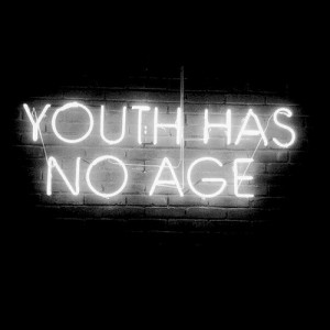 quote sign youth forever young neon sign youth has no age live for ...