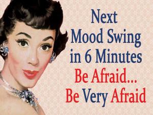 Retro Humour - Blechschild - Next Mood Swing