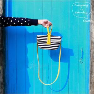 Quote Mini CrissCross Bag Stripes