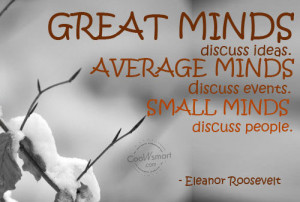 Quotes About Rumors And Gossip Gossip Quote Great minds
