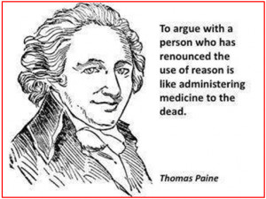 """Thomas Paine artwork and quote published in a blogpost, """"Some Common ..."""